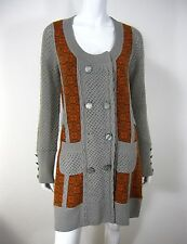 Lia Molly Long Sleeves Cardigan Sweater Size M, Multicolored