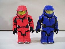 LOT OF 2 KUBRICK HALO 3 SPARTAN FIGURES RED & BLUE 2007 GENTLE GIANT