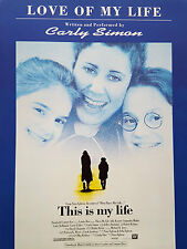 Carly Simon: Love Of My Life (Piano/Vocal/Guitar Sheet Music) OUT OF PRINT, MINT