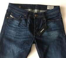 NWT $198 DIESEL Jeans W32 L 30 Blue Wash U831Q_stretch VIKER Regular-straight