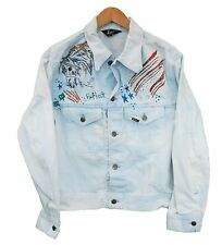 Vintage LEE Denim Jacket Womens Customised - UK 16 (25114)