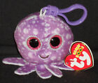 TY BEANIE BOOS BOO'S - LEGS the OCTOPUS KEY CLIP - MINT with MINT TAGS