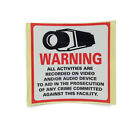 Home CCTV Surveillance Security Camera Sticker Warning Decal Signs