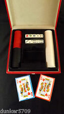 DELUXE PLAYING CARDS, POKER CHIPS, 10 DICE & CASE FAMILY FUN NIGHT CARD GAMES