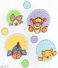 "2.5"" DISNEY PEEK A POOH PIGLET EEYORE  CHARACTER WALL SAFE FABRIC DECAL CUT OUT"