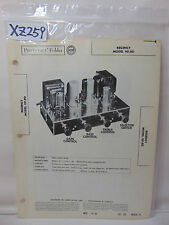 SAMS PHOTOFACT FOLDER MANUAL & SCHEMATIC AMPLIFIER REGENCY MODEL HF-80