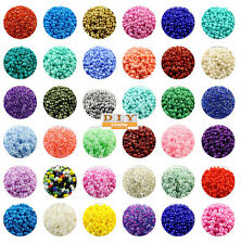 Jewelry Making DIY CraftsCzech 22g 2/3/4mm Lot Colorful Glass Seed Beads Round..