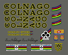 COLNAGO SUPER FRAME DECAL SET YELLOW OUTLINE VERSION