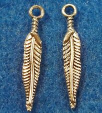 20Pcs. Tibetan Silver Indian FEATHER Charms Earring Drops Jewelry Findings W16