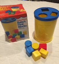 Vintage Fisher-Price Baby's First Blocks #414 Shape Sorter Toy With Box