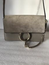 Chloé Small Faye Leather Shoulder Bag  Motty Grey $1390+