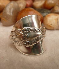 STUNNING ! SILVER SPOON RING  925 SILVER RING  1901 ART NOUVEAU.