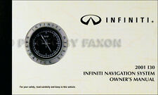 2001 Infiniti I30 Navigation System Owners Manual Original Nav Owner Guide