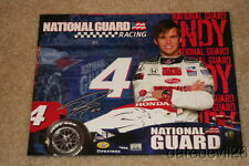 2009 Dan Wheldon National Guard Honda Dallara Indy Car postcard