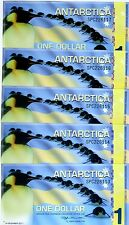 LOT Antarctica, 5 x $1, 2011, Polymer -  Commemorative