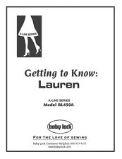 Baby Lock Lauren BL450A Serger Instruction Manual