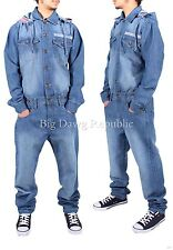 Time Is Money Mens Boys Women Unisex Denim Onesie Jumpsuit Dungarees Overalls