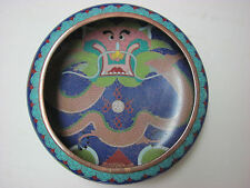 Antique Chinese Cloisonne Bowl with Dragon and mark