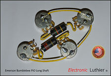 Upgrade Wiring Vintage Emerson Bumblebees Caps CTS Pro  Pots - Gibson Les Paul