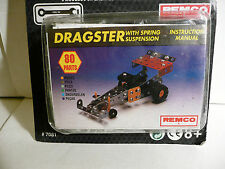 "New Vintage Remco ""STEEL TEC"" (1993 Edition) Construction Set DRAGSTER 80-Pieces"