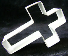 NEW WHITE CROSS CHRISTENING SHAPED COOKIE BISCUIT PASTRY CUTTER ANNIVERSARY HOUS