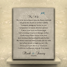 (LT-1138) Personalized Thank You Gift For Wife at Wedding Love Poem Personali...