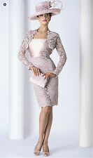 pink lace mother of the Bride Dress Formal Prom Free Jacket Long sleeve/ custom