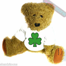 Lucky Shamrock Irish Ireland Mascot Novelty Gift Teddy Bear