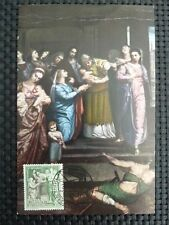 SPAIN MK 1962 MADONNA MARIA MAXIMUMKARTE CARTE MAXIMUM CARD MC CM c1657