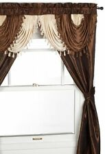 Regal Home Collections Amore 54-Inch by 84-Inch Window Set with Attached Valance