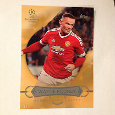 WAYNE ROONEY BB-WR Best of the Best #/10 made 2016 Topps UEFA Champions 5X7 GOLD