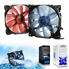 3-Pin/4-Pin 120mm PWM PC Case CPU Cooling Blue LED Fan Durable Material SOL