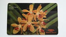 SINGAPORE PHONE CARD ORCHID FLOWER SERIES #2 VANDAENOPSIS TWINKLE