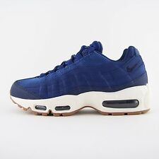 New Womens Nike Air Max 95 Blue Leather Trainers Sneakers UK 5.5 Kids 307960 400