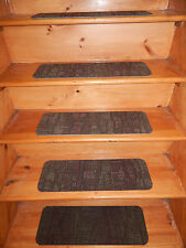 "15 Step Indoor Stair Treads Staircase  8"" x 24""  Rug Carpet"