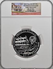 2017 5oz SILVER 25C Frederick Douglas NGC MS 69DPL Early Releases must see!