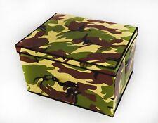 Vert kaki armée camouflage multi usage kids boîte de rangement pied tabouret siège linge