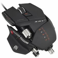 Mad Catz  R.A.T. 7 rat laser Gaming Mouse 6400 dpi (BLACK)-new sealed