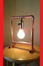 """Copper pipe lamp """"The Frame"""""""