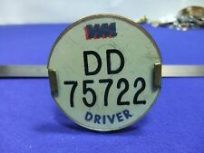 vtg badge bus driver dd 75722 lapel transport 1960s 70s ? psv public service