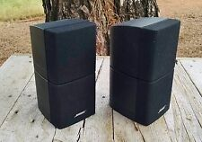 2 Bose Double Cube Speakers Lifestyle Acoustimass Very Good Condition Lot A