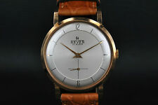 Vintage watch HEVER yellow gold 18KT 35mm UHR MONTRES Selza movement