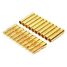 10 Pair 4mm Gold Plated Bullet Banana Plug Connector For RC Car Lipo Battery