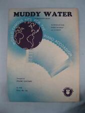Muddy Water A Mississippi Moan Piano Sheet Music Vintage 1926 Peter De Rose (O)
