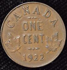 1922 VF-XF Canadian Small Cent #1