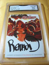 RED SONJA AUTOGRAPH AUTO PAUL RENAUD 2012 DYNAMITE # PRB GRADED 10