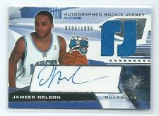 2004-05 SPx Jameer Nelson DUAL JERSEY RELIC AUTO AUTOGRAPH RC #124 186/1999