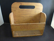 Coca cola 6 pack wooden bottle holder  authentic  and very old