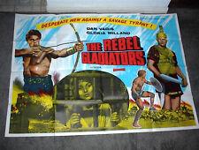 THE REBEL GLADIATORS original 1962 PEPLUM movie poster DAN VADIS/GLORIA MILLAND