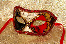Mens Masquerade Mask - Italian Made - OVERNIGHT to Metro Aust - Ruby Eyes